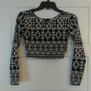 Small Forever 21 long sleeved crop top